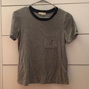 Urban Outfitters initial pocket tee